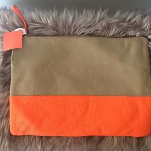 Gap Leather Bag - clutch